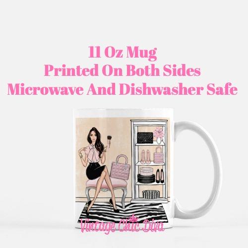 Blush Makeup Girl Vanity17 Coffee Mug-