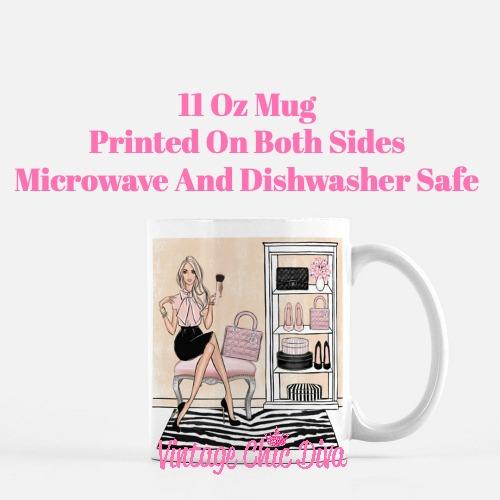 Blush Makeup Girl Vanity18 Coffee Mug-