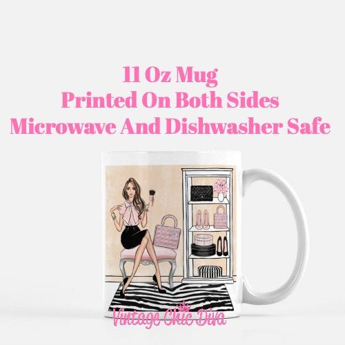 Blush Makeup Girl Vanity19 Coffee Mug-