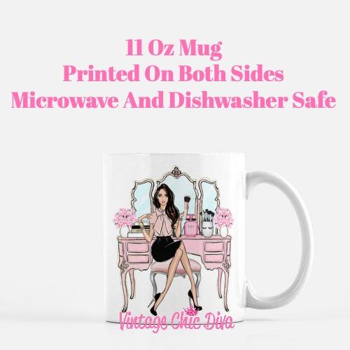 Blush Makeup Girl Vanity1 Coffee Mug-