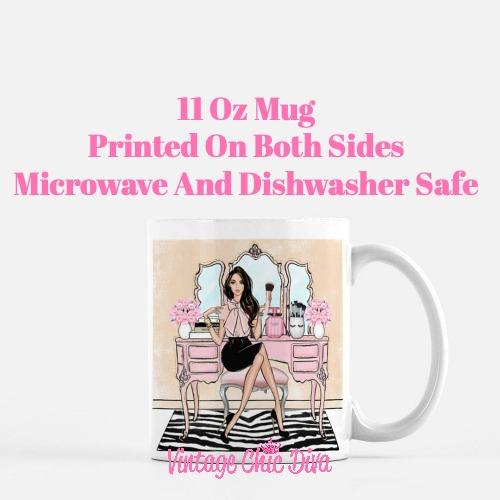 Blush Makeup Girl Vanity21 Coffee Mug-