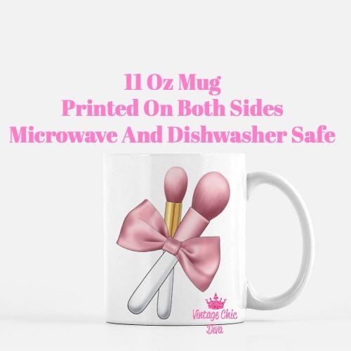 Blush Pink Brush Set2 Coffee Mug-
