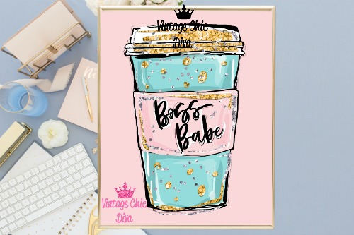 Boss Babe Cup Pink Background-