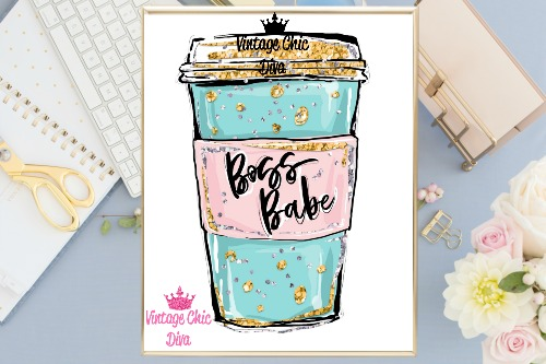 Boss Babe Cup White Background-