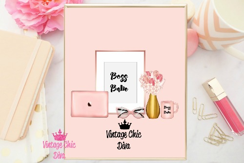 Boss Babe Set Blush Background-