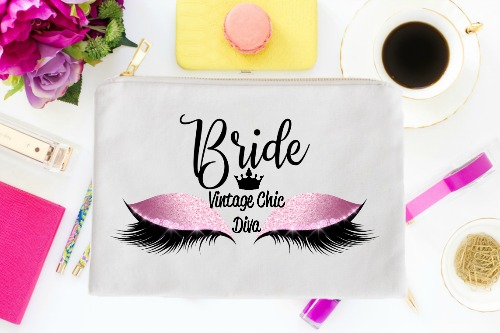 Bride Pink Eyes White-
