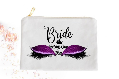 Bride Purple Eyes White-