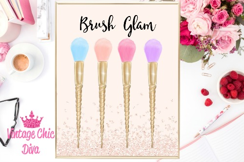 Brush Glam Blush Glitter Background-