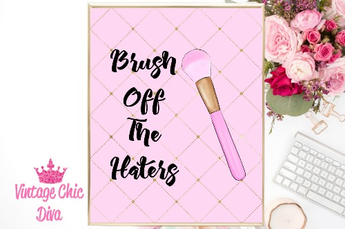 Brush Off The Haters Pink Lattice Background-
