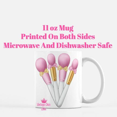 Brush Set Bows2 Coffee Mug-