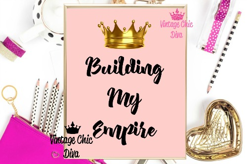 Building My Empire Crown Blush Pink Background-