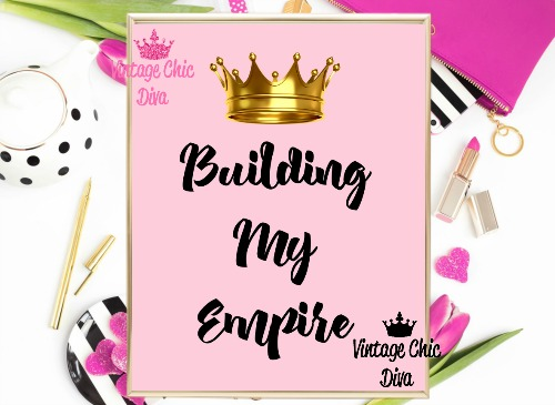 Building My Empire Crown Pink Background-