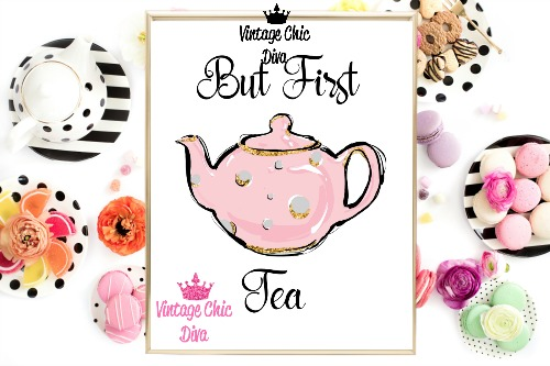 But First Tea White Background-