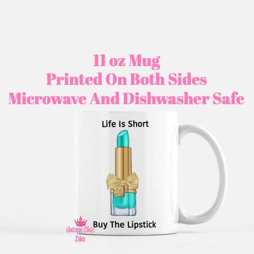 Buy The Lipstick Aqua2 Coffee Mug-