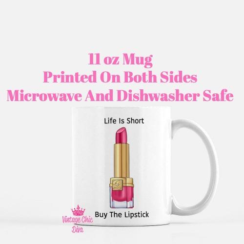 Buy The Lipstick Hot Pink1 Coffee Mug-