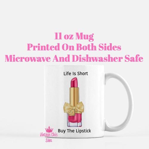 Buy The Lipstick Hot Pink3 Coffee Mug-