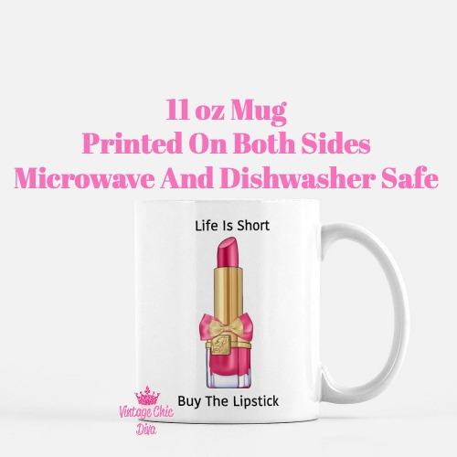 Buy The Lipstick Hot Pink4 Coffee Mug-