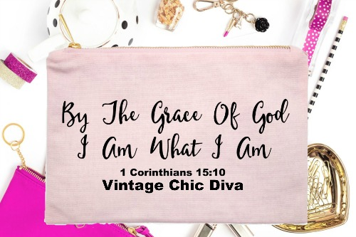 By The Grace Of God I Am What I Am Pink-