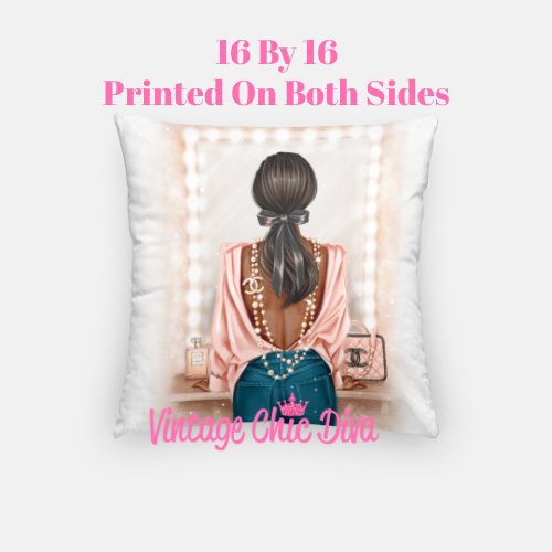 Chanel Beauty Girl3 Pillow Case-