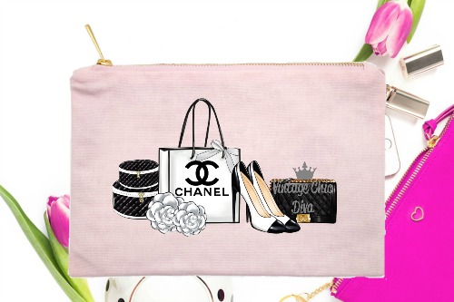Chanel Back Set2 Pink-
