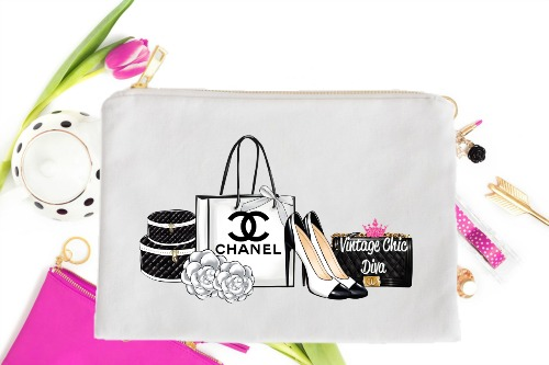Chanel Back Set2 White-