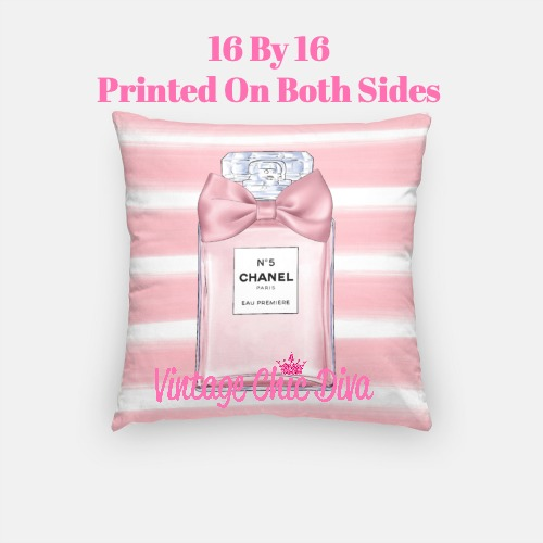 Chanel Blush Perfume1 Pillow Case-