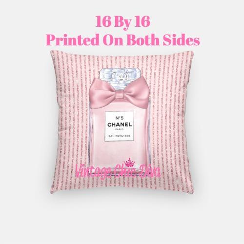Chanel Blush Perfume3 Pillow Case-