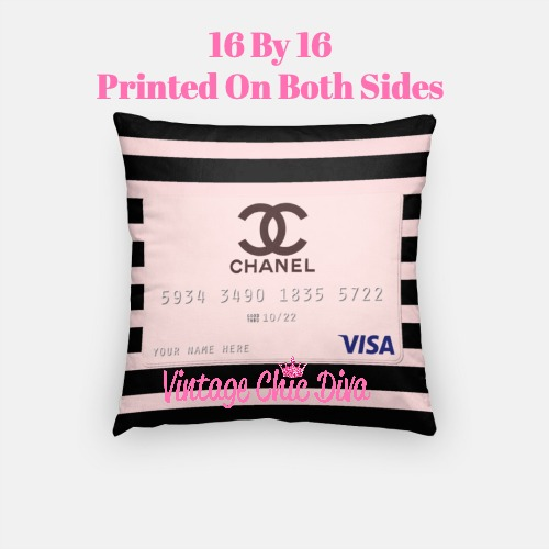 Chanel Credit Card1 Pillow Case-