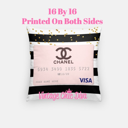 Chanel Credit Card2 Pillow Case-