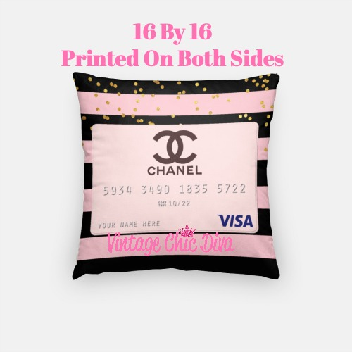 Chanel Credit Card3 Pillow Case-
