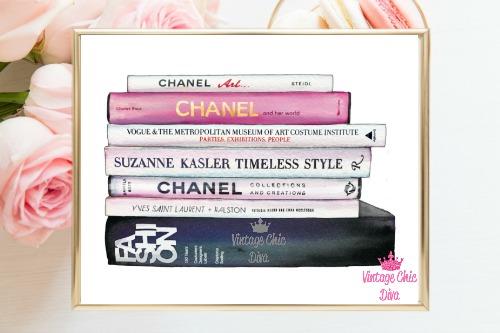 Chanel Fashion Books White Background-