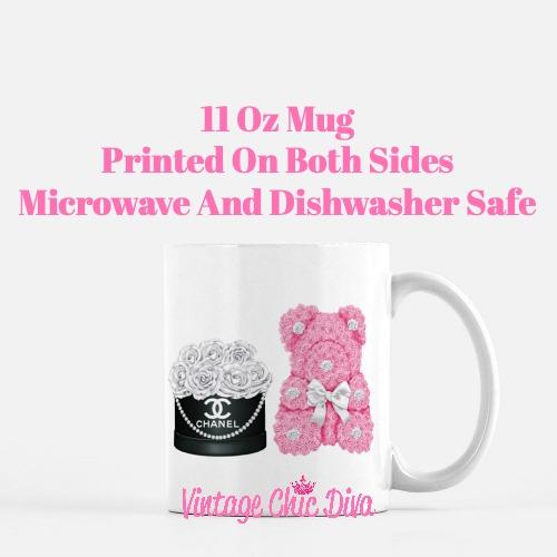 Chanel Flower Box Bear Set4 Coffee Mug-