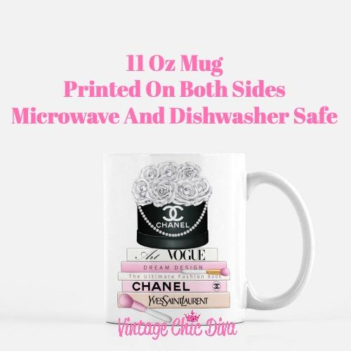 Chanel Flower Box Book Set1 Coffee Mug-