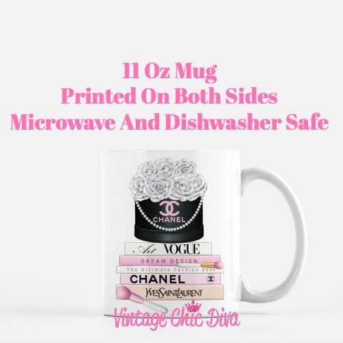 Chanel Flower Box Book Set2 Coffee Mug-