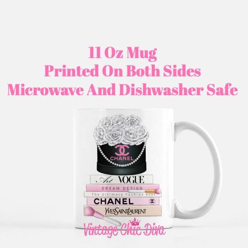 Chanel Flower Box Book Set3 Coffee Mug-
