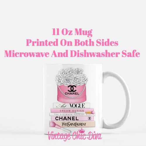 Chanel Flower Box Book Set4 Coffee Mug-