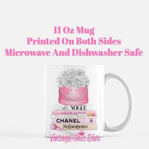 Chanel Flower Box Book Set5 Coffee Mug-
