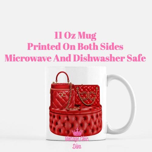 Chanel Glam Handbag Set11 Coffee Mug-