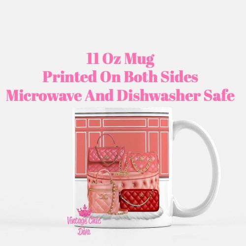 Chanel Glam Handbag Set2 Coffee Mug-