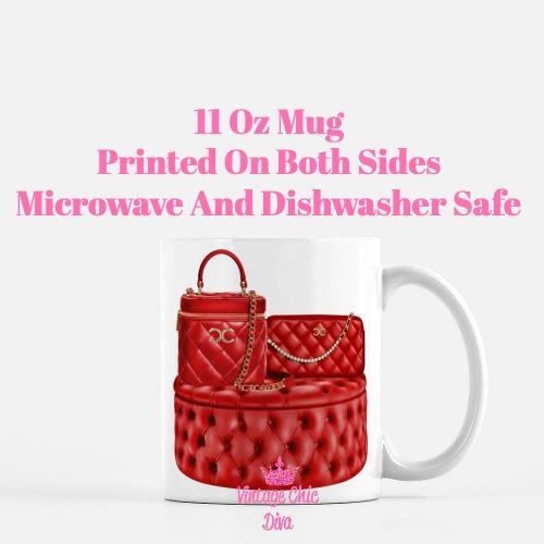 Chanel Glam Handbag Set8 Coffee Mug-
