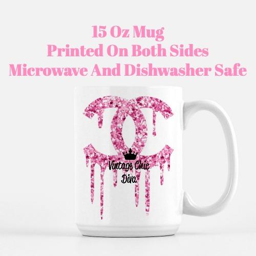 Chanel Glitter Drip1 Coffee Mug-