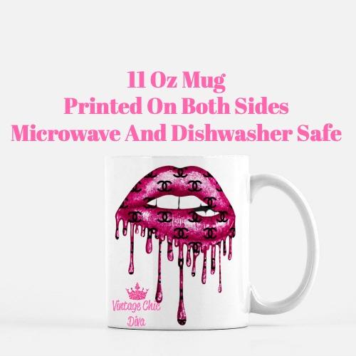 Chanel Lips Drip6 Coffee Mug-
