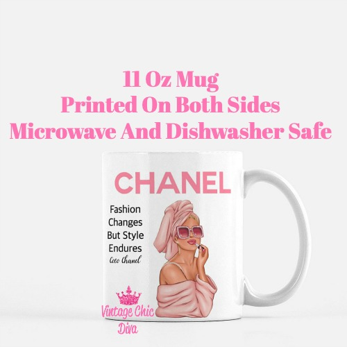 Chanel Magazine Girl10 Coffee Mug-
