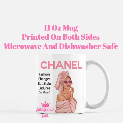 Chanel Magazine Girl11 Coffee Mug-