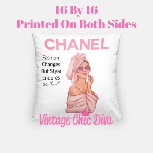 Chanel Magazine Girl11 Pillow Case-