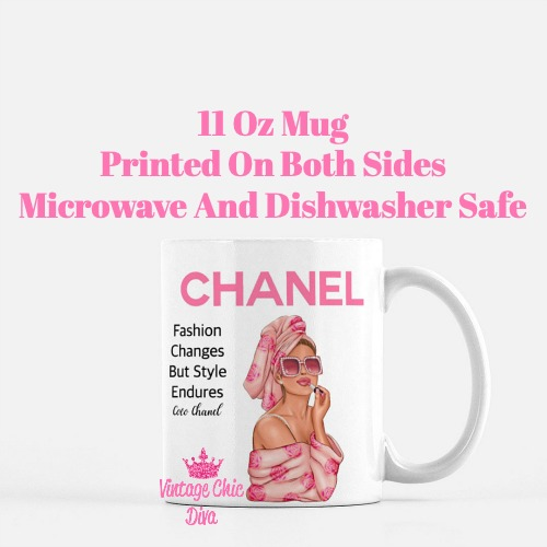 Chanel Magazine Girl14 Coffee Mug-