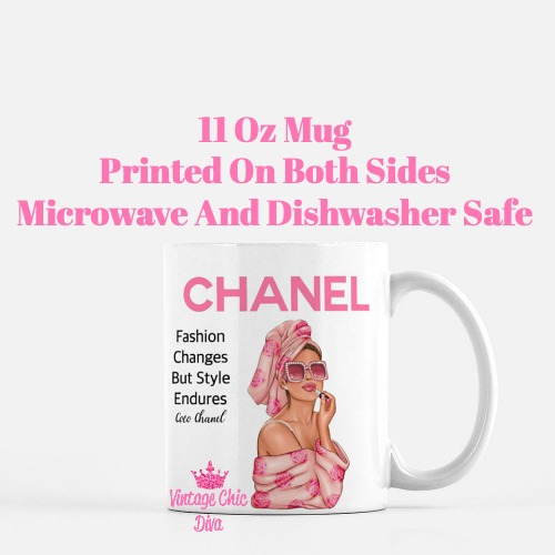 Chanel Magazine Girl15 Coffee Mug-