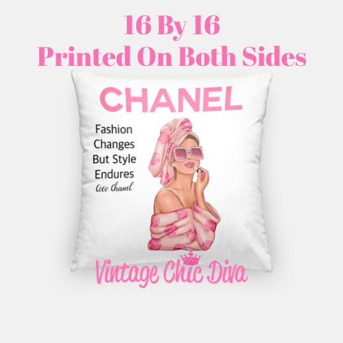 Chanel Magazine Girl15 Pillow Case-