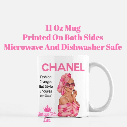 Chanel Magazine Girl16 Coffee Mug-