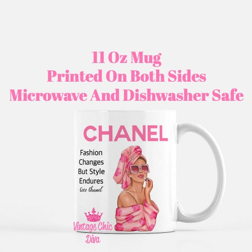 Chanel Magazine Girl17 Coffee Mug-